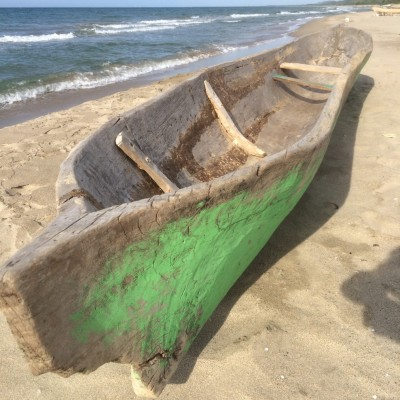 The Garifuna live on the Northern coast of Honduras and still use this dug out canoes